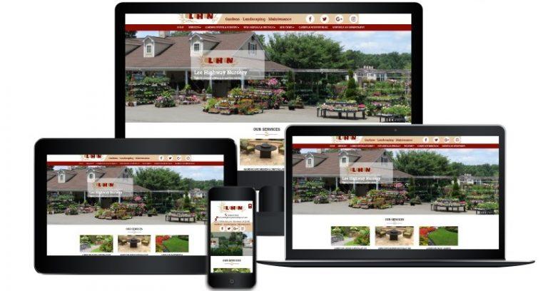 Lee Highway Nursery responsive design template 5