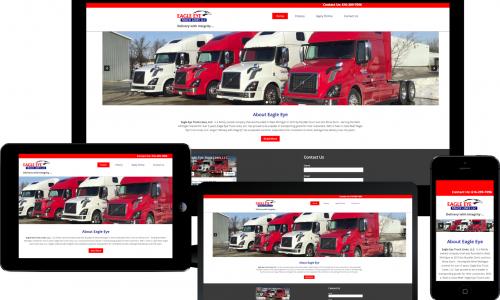 eagle eye trucking responsive design