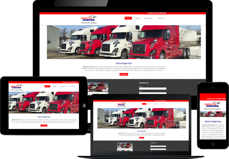 eagle eye trucking responsive design
