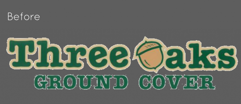 three oaks ground cover logo before