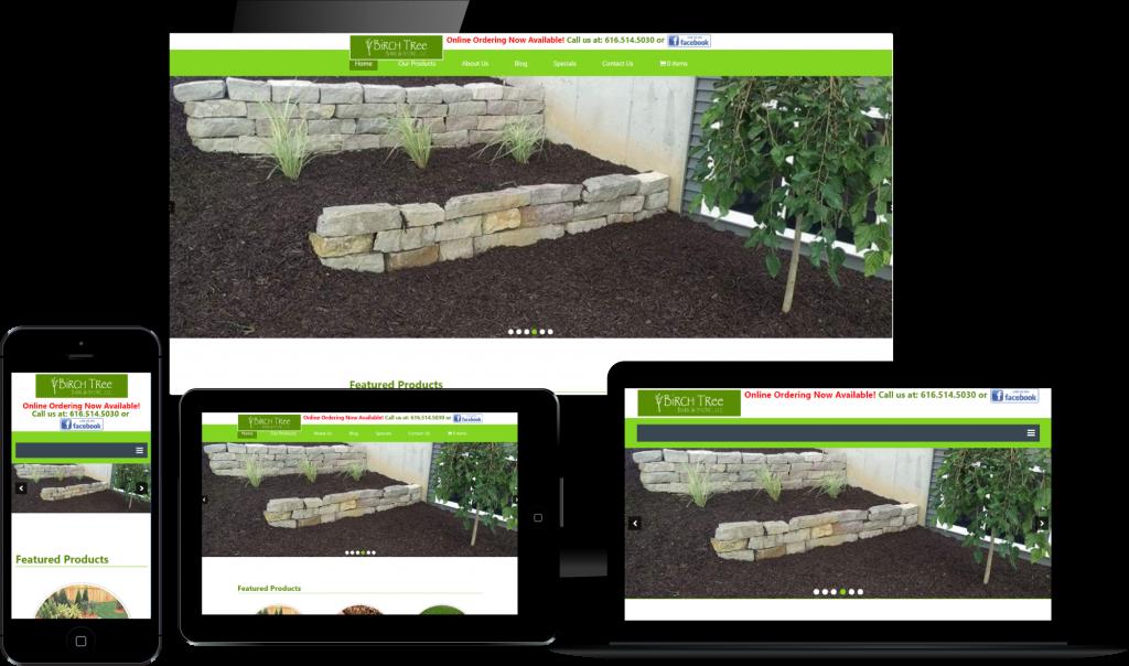 responsive design - birch tree