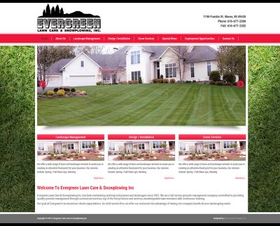 Evergreen Lawn Care & Snow Plowing | Website Design | MI