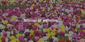 Billions of websites