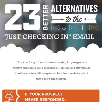 "23 Better Alternatives to the ""Just Checking In"" Email"