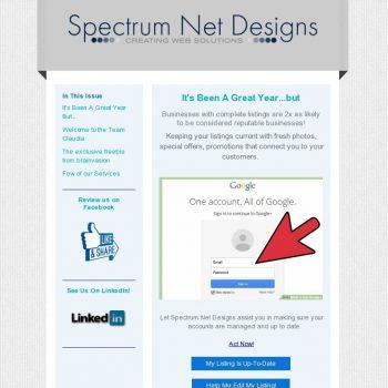 October 2017 Newsletter | Spectrum Net Designs