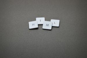 html tiles on gray counter