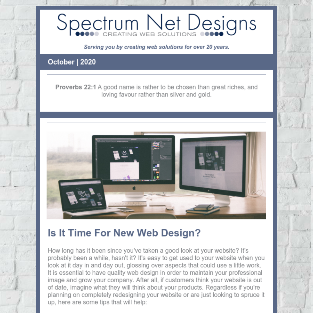 10.21.20 Spectrum Newsletter Image