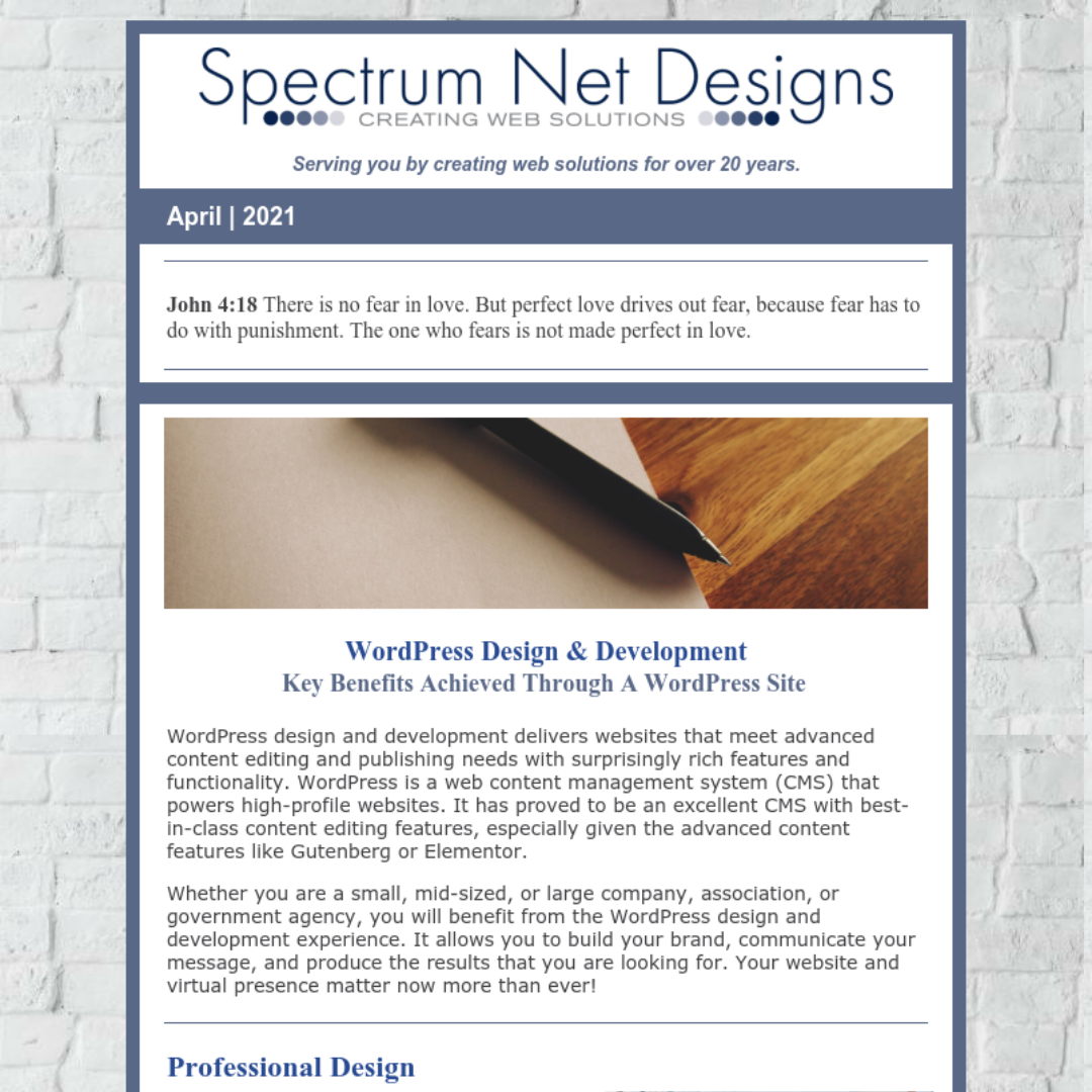 4.21.21 Spectrum Newsletter Image
