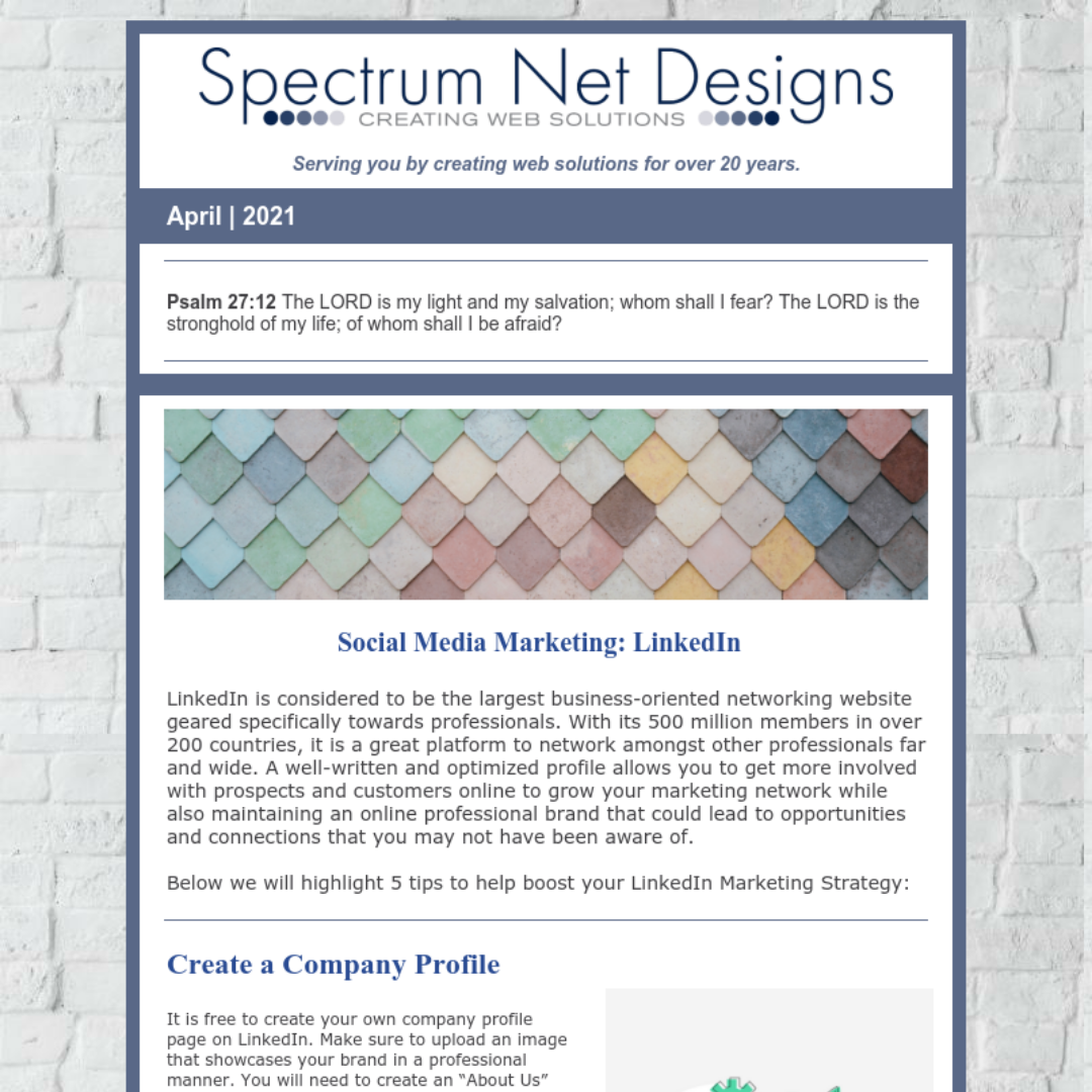 4.7.21 Spectrum Newsletter Image