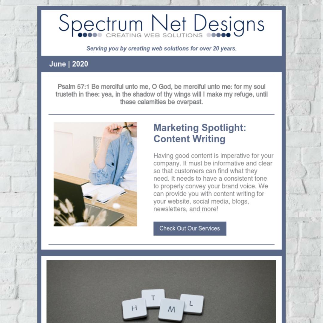 6.17.20 Spectrum Newsletter Image